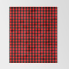Mini Red and Black Buffalo Check Plaid Tartan Throw Blanket