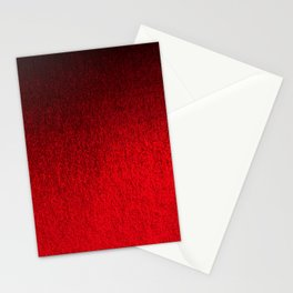 Ruby Red Ombré Design Stationery Cards