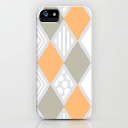 arlequin pattern iPhone Case