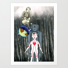 Jump On The World Of Creativity Art Print