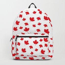 Canada Maple Leaf-White Backpack