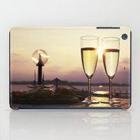 champagne iPad Cases featuring Champagne Date by Brown Eyed Lady