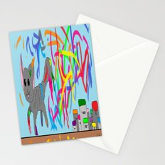 Artistic kitten  Stationery Cards