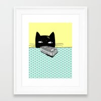 kitty Framed Art Prints featuring Kitty  by Mary Kilbreath
