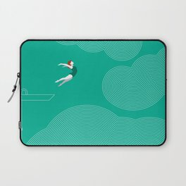 diver girl jumping into the clouds Laptop Sleeve