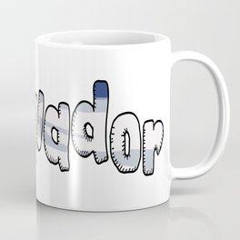 El Salvador Font with Salvadoran Flag Coffee Mug