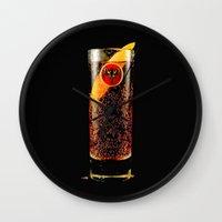 coke Wall Clocks featuring Barcadi Coke by Rothko