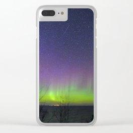 Aurora Borealis over Lake Superior Clear iPhone Case