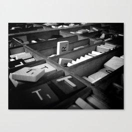 Scrabble Canvas Print