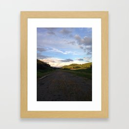 Endless Road Framed Art Print
