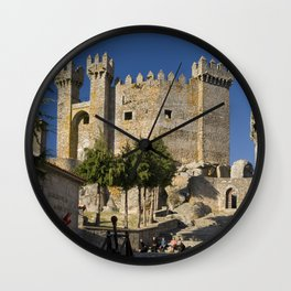 Medieval fortress in Portugal Wall Clock