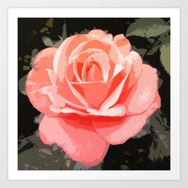 Suntalla Rose Art Print