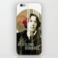 oscar wilde iPhone & iPod Skins featuring Oscar Wilde by LottaLuckDesign