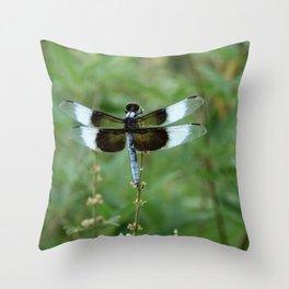 Dragonfly- Widow Skimmer Throw Pillow