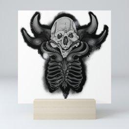 Skeleton Monster V1 Mini Art Print