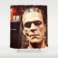 frank Shower Curtains featuring Frank by Jimmy Duarte
