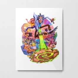 Rick & Morty through a portal Metal Print