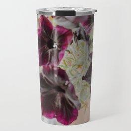 Purple Garden Flowers Travel Mug