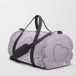 Sparkling LAVENDER Lady Glitter Heart #1 (Faux Glitter) #decor #art #society6 Duffle Bag