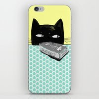 kitty iPhone & iPod Skins featuring Kitty  by Mary Kilbreath