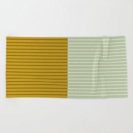 Color Block Lines XXI Moss Beach Towel