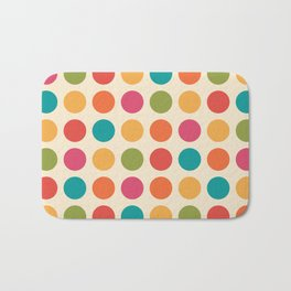 Mid Century Color Dots Bath Mat