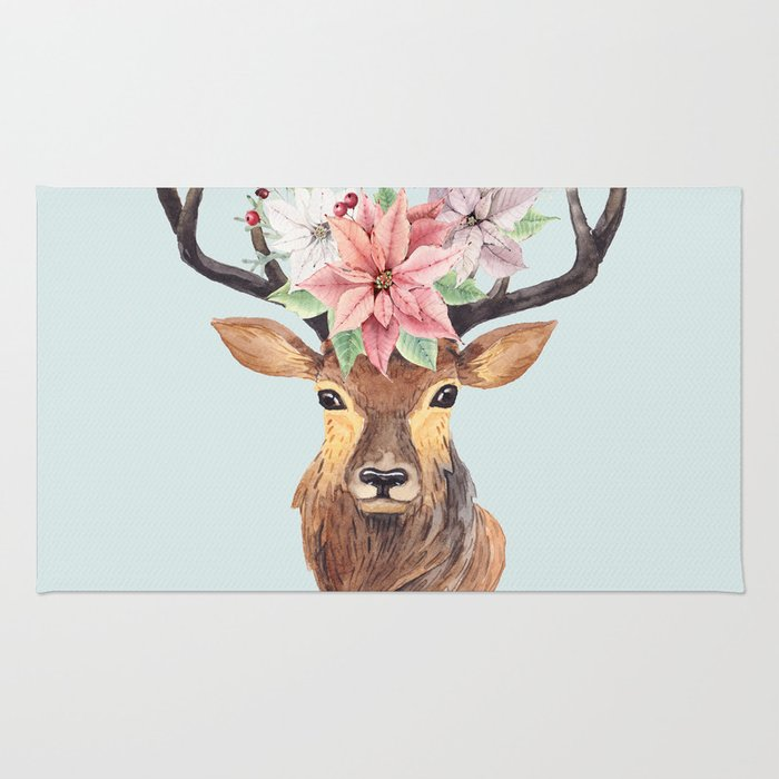 Winter Deer 2 Rug