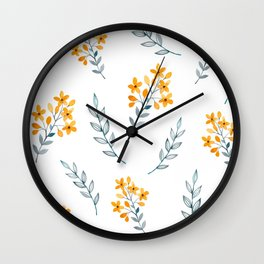 Yellow Flower Obsession Wall Clock