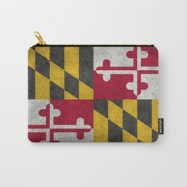 Maryland State flag - Vintage retro style Carry-All Pouch