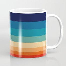 Vintage 70s Color Staggered Striped Color Block Pattern Sunset Sky Coffee Mug