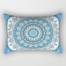 Wanderlust Mandala (sky blue) Rectangular Pillow