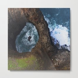 Hawaiian Rare Sacred Pool: Close Up Metal Print