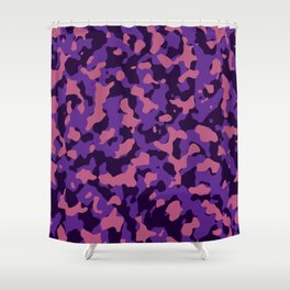 Camouflage Pink and Purple Shower Curtain