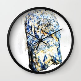 Kyanite crystall Gemstone Wall Clock