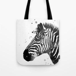 Zebra Ink Spot Tote Bag