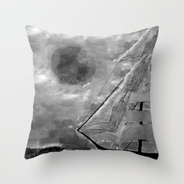 The Fate of Sir Charles Vane: Mutiny and the Cursed Lands Throw Pillow