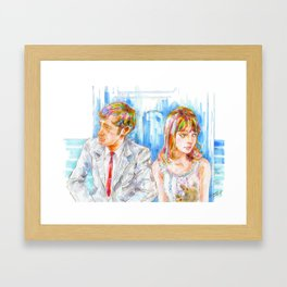 Cinema2 - Pierrot Le Fou Framed Art Print