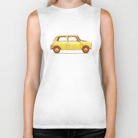 mini cooper Biker Tanks featuring Famous Car #1 - Mini Cooper by Florent Bodart / Speakerine