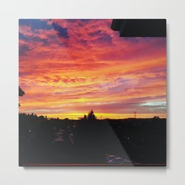 Sunset in Napa Metal Print