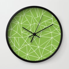 Ab Outline Greeny Wall Clock