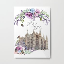 Duomo di Milano Milan Italy Vintage Metal Print