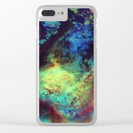 Titan Abstract Artwork, Contemporary Artist Design, Close Up Photograph, Bright Color Abstract Art Clear iPhone Case