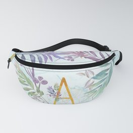 Modern glamorous personalized gold initial letter A, Custom initial name monogram gold alphabe Fanny Pack