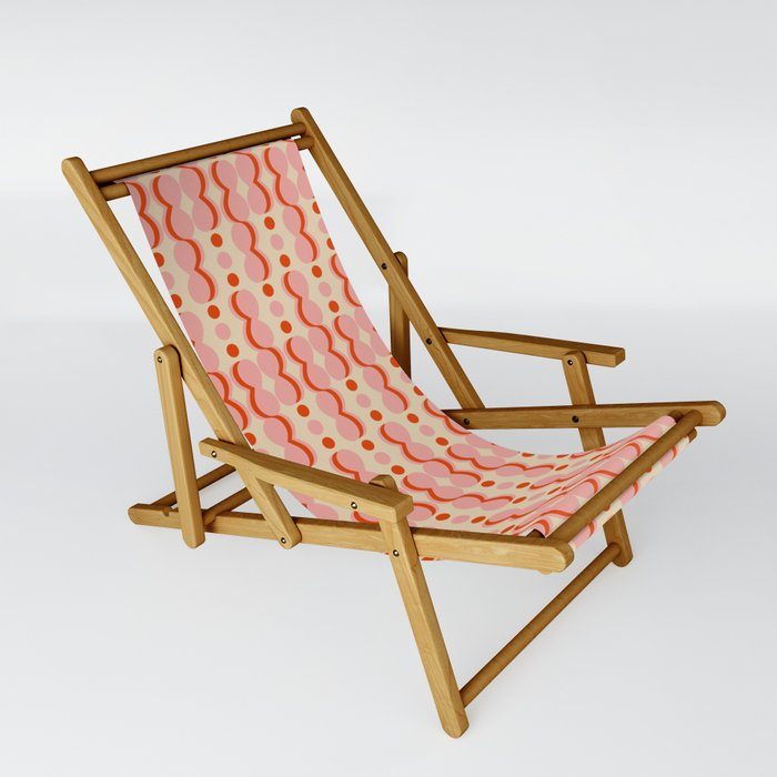 Uende Love - Geometric and bold retro shapes Sling Chair