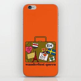 Wanderlust Queen iPhone Skin