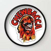 chewbacca Wall Clocks featuring Chewbacca by Popp Art