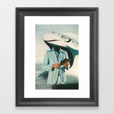 crisp, cool sophistication Framed Art Print