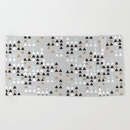 Scandinavian geometric pattern Beach Towel