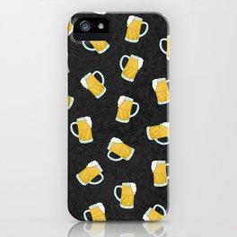 Artsy Modern Yellow Black Watercolor Beer Steins iPhone Case