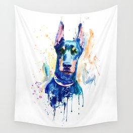 Doberman Dog Head Wall Tapestry